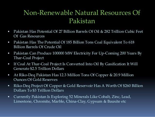 Unexplored natural resources of pakistan