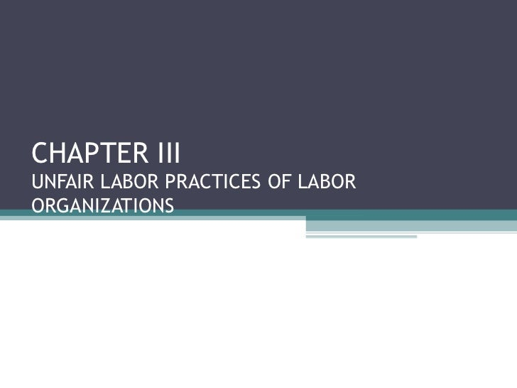 articles on unfair labor practices