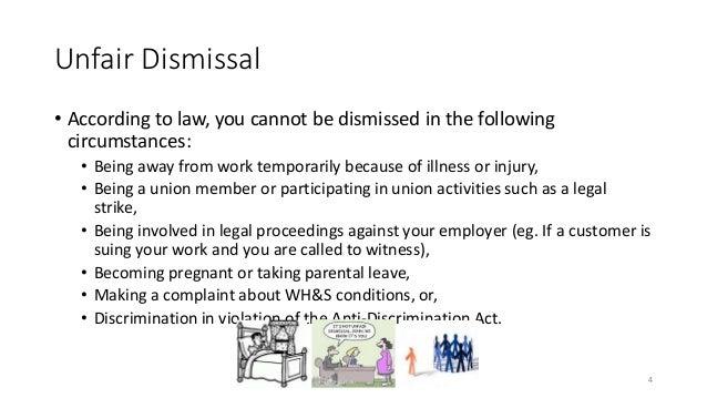 Elegant 4. Unfair Dismissal ...