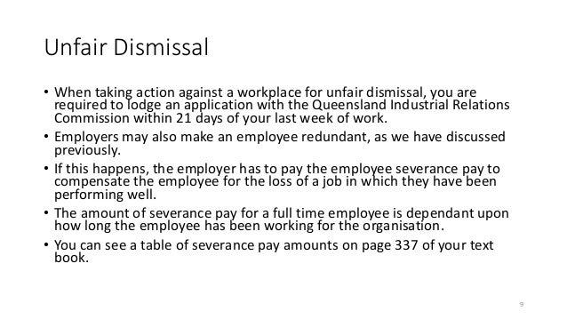 Wonderful 9. Unfair Dismissal ...