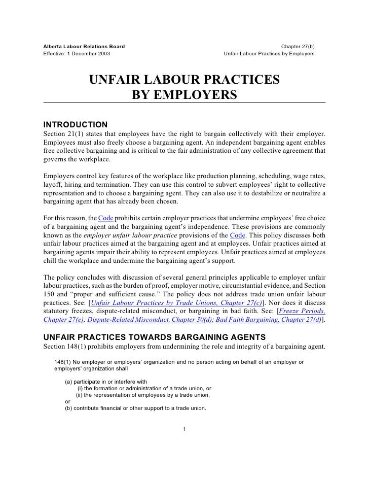 Alberta Labour Relations Board                                                                 Chapter 27(b)Effective: 1 D...