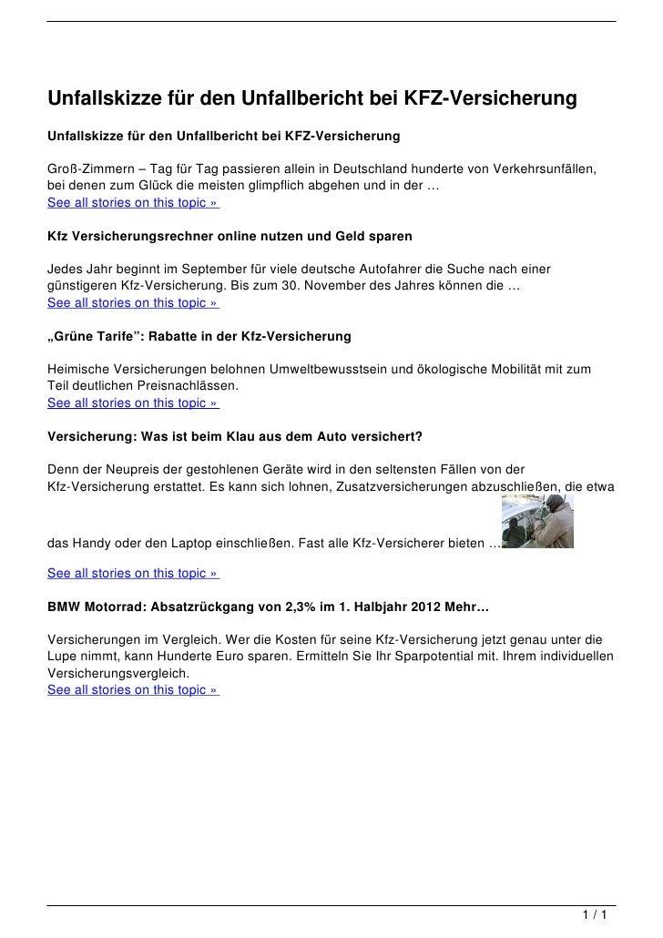 Unfallskizze für den Unfallbericht bei KFZ-Versicherung