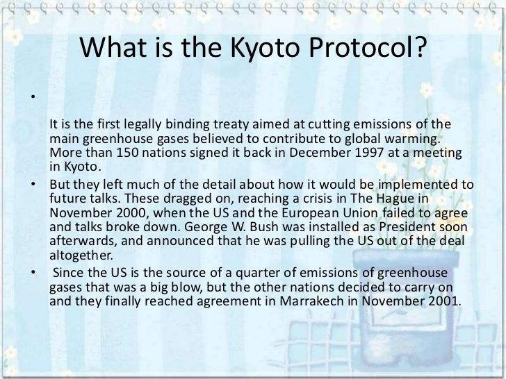 what is the goal of kyoto protocol