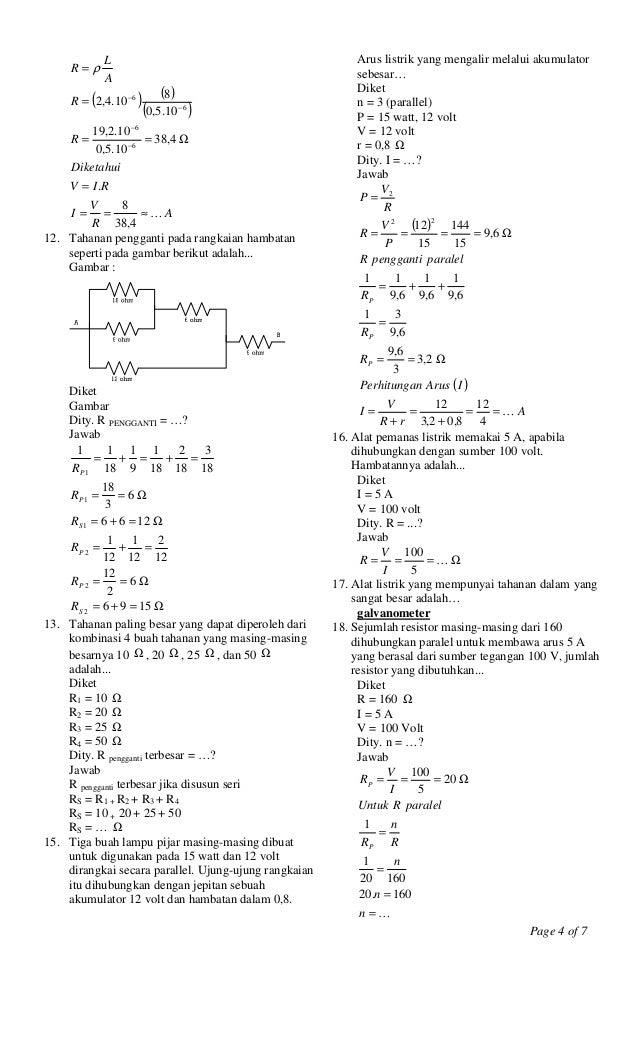 Un Fisika Smk 2010 Latihan Soal Dan Kunci Jawaban Kelas Xii Soaluji