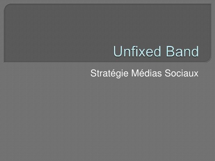 Unfixed Band<br />Stratégie Médias Sociaux<br />