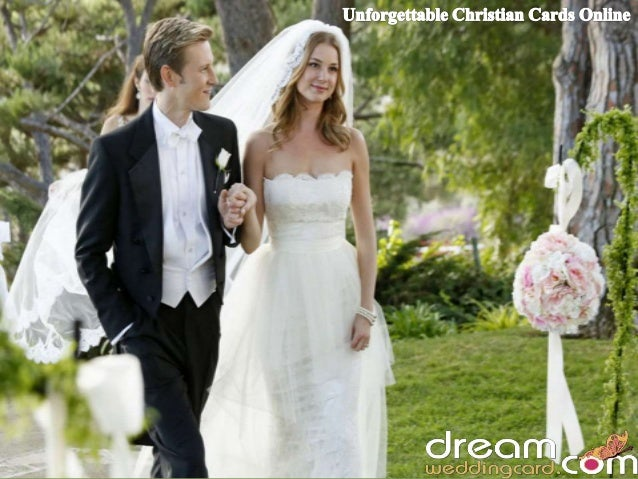 www.dreamweddingcard.com Christian wedding is an auspicious ceremony for both the newly married couple as well for its gu...