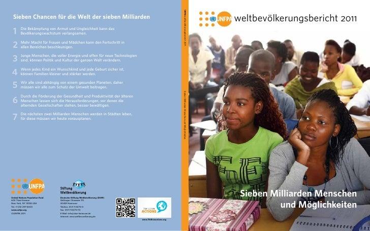weltbevölkerungsbericht 2011 Sieben Milliarden Menschen          und Möglichkeiten