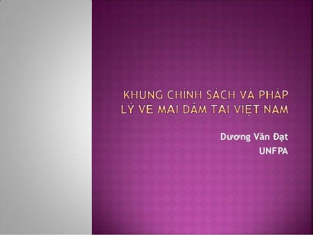 Dương Văn Đạt UNFPA