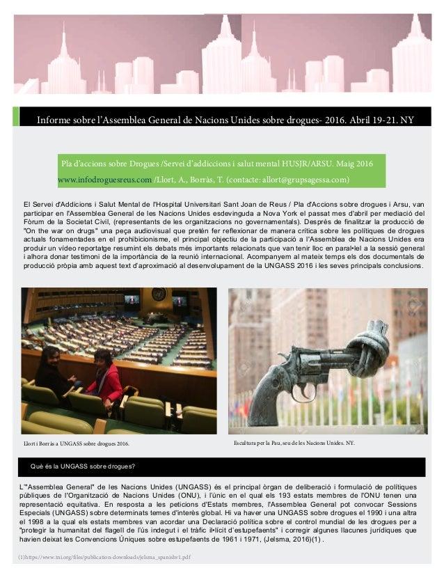 El Servei d'Addicions i Salut Mental de l'Hospital Universitari Sant Joan de Reus / Pla d'Accions sobre drogues i Arsu, va...