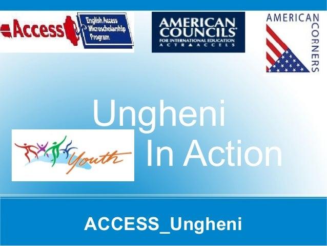 ACCESS_Ungheni Ungheni In Action