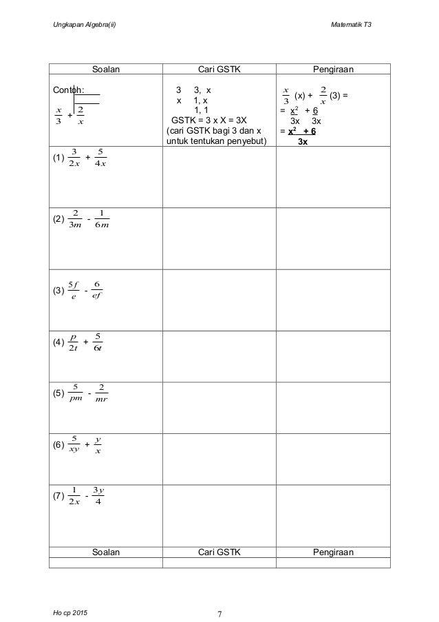 Contoh Soalan Indeks Matematik Tingkatan 3 - Soalan ai