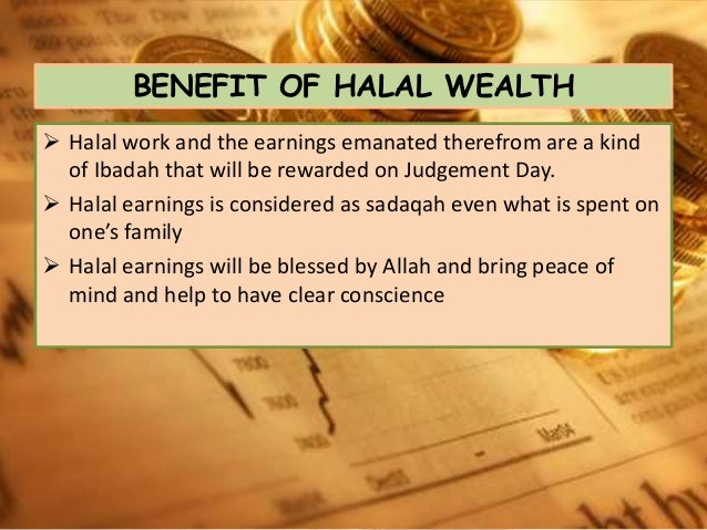 halal ways of earning wealth in islam
