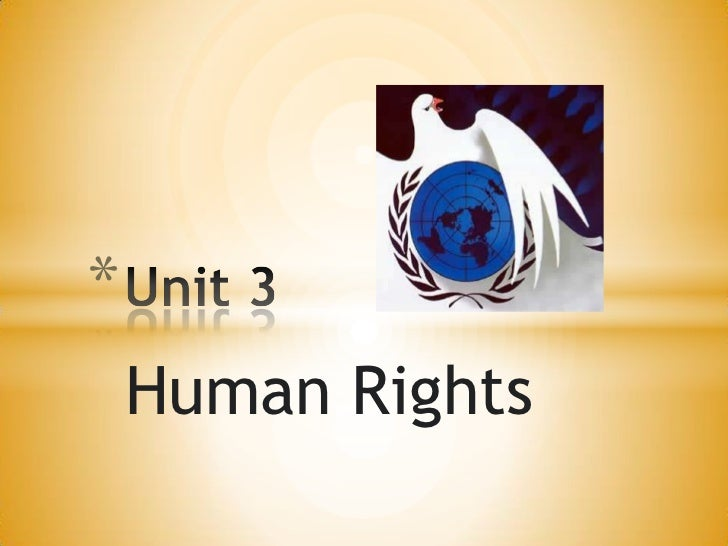 Human Rights<br />Unit 3<br />