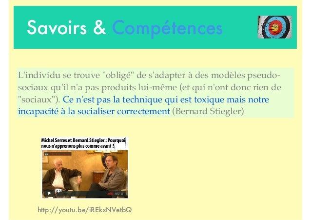 """Savoirs & Compétences http://youtu.be/iREkxNVetbQ L'individu se trouve """"obligé"""" de s'adapter à des modèles pseudo- sociaux..."""