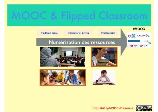Numérisation des ressources Tradition orale Imprimerie, Livres Multimédias xMOOC http://bit.ly/MOOC-Presence MOOC & Flippe...
