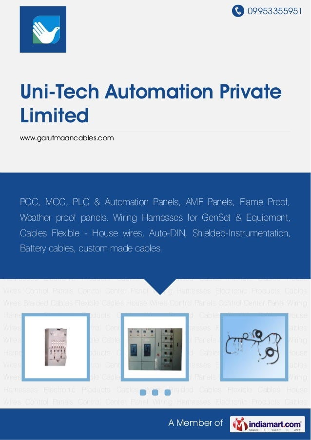 09953355951A Member ofUni-Tech Automation PrivateLimitedwww.garutmaancables.comControl Panels Control Center Panel Wiring ...