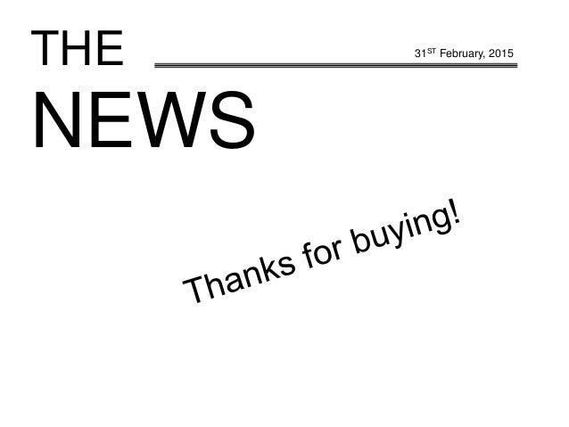 THE NEWS 31ST February, 2015