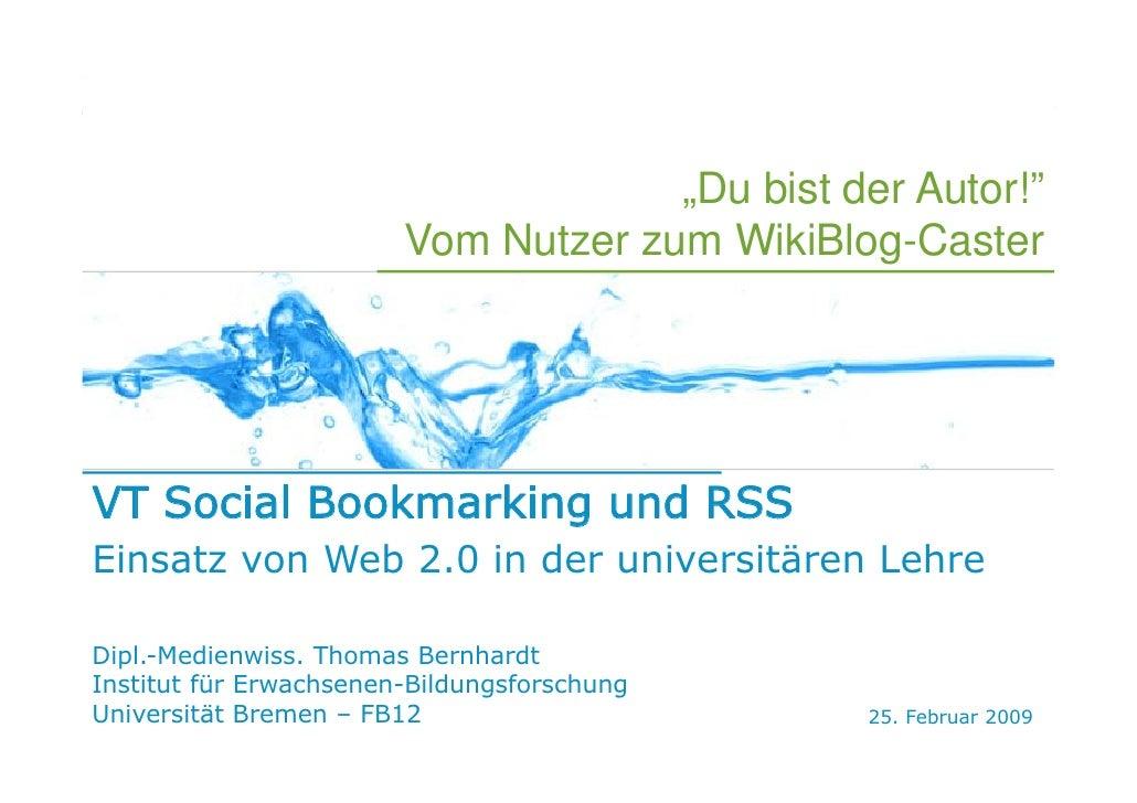 E-Learning 2.0                                      RSS   POTENZIALE   EINSATZ                 SOCIAL BOOKMARKING    FOLKS...