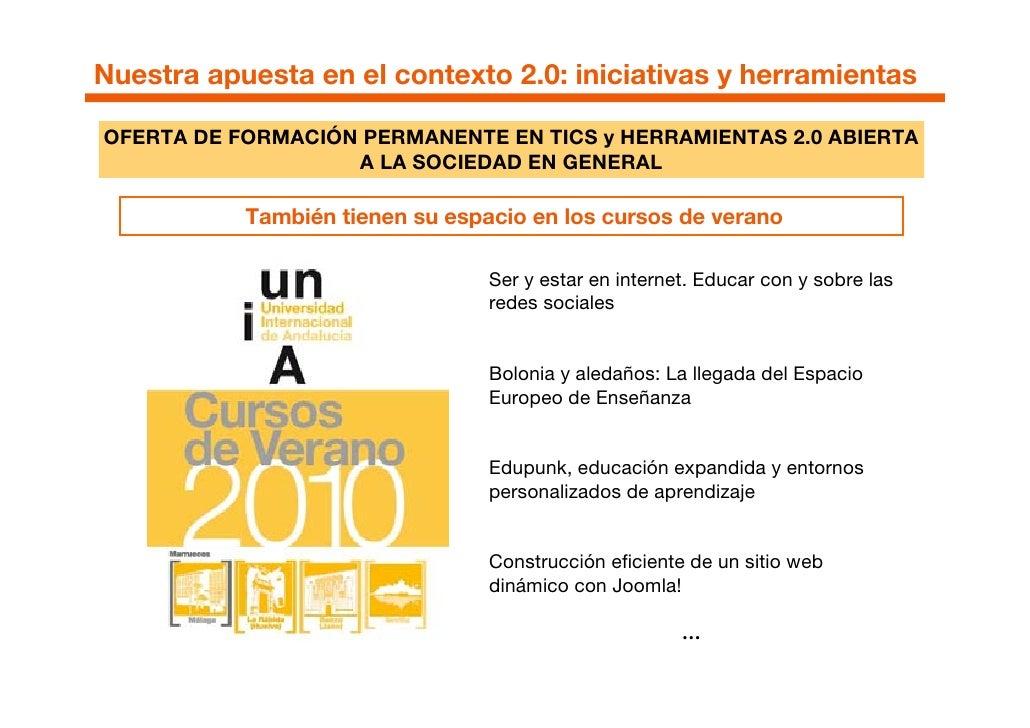 """A modo de conclusión   Barreras para la adopción del enfoque 2.0    La UNIA, aunque como Universidad """"Nativa Digital"""" cuen..."""