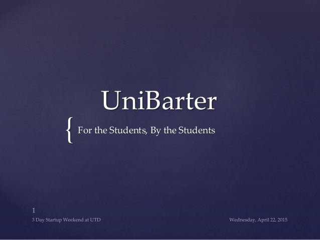 { UniBarter For the Students, By the Students
