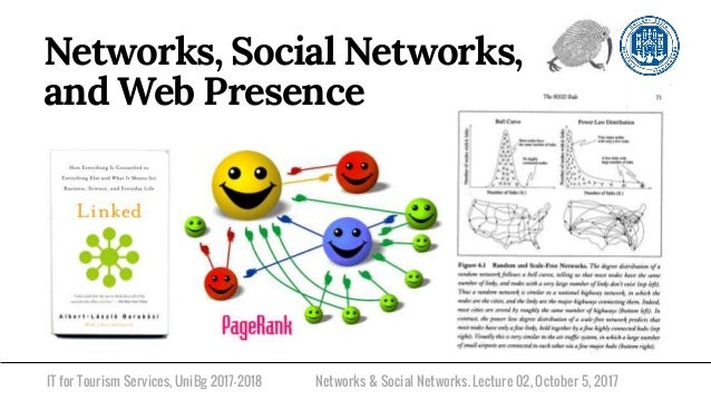 IT for Tourism Services, UniBg 2017-2018 Networks, Social Networks, and Web Presence Networks & Social Networks. Lecture 0...