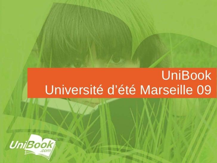UniBook Université d'été Marseille 09
