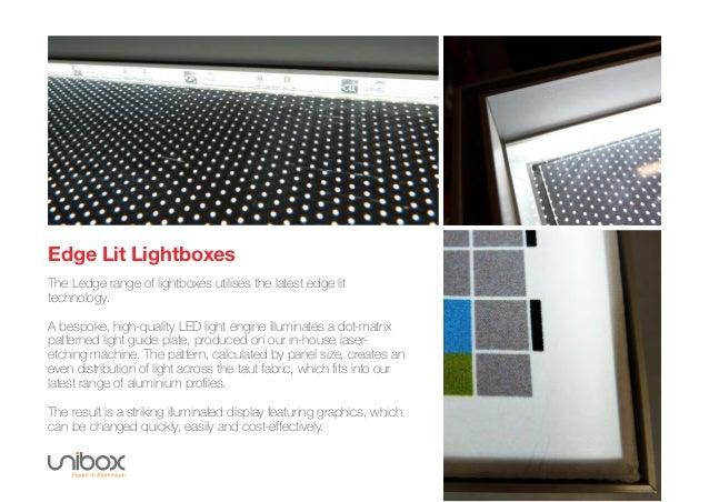 ... interior environments LedgeLEDLightboxes; 2. Edge Lit Lightboxes ...