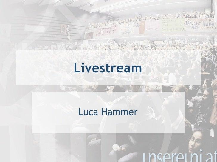 Livestream <ul><li>Luca Hammer </li></ul>