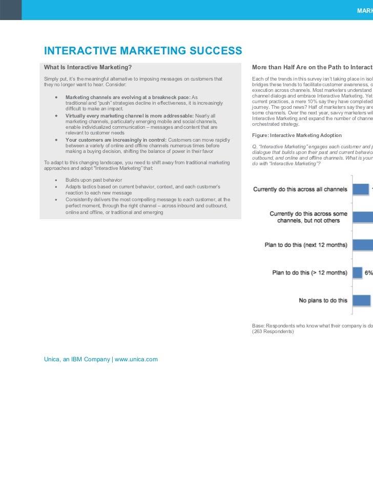 MARKETING SUCCESS STARTS WITH U™INTERACTIVE MARKETING SUCCESSWhat Is Interactive Marketing?                               ...