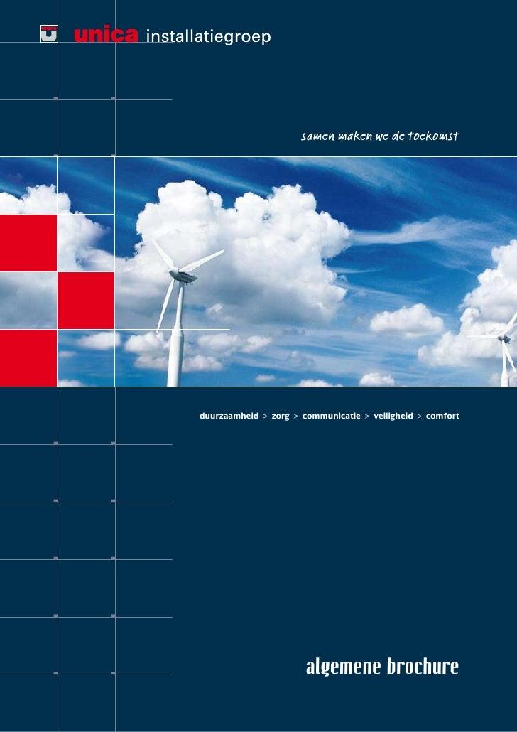 duurzaamheid > zorg > communicatie > veiligheid > comfort                            algemene brochure