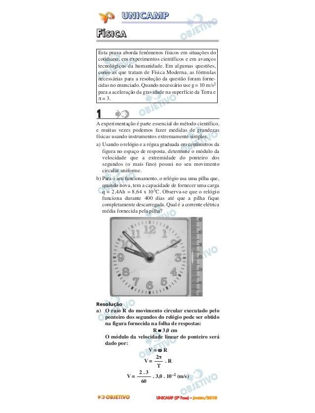 FFÍÍSSIICCAA1A experimentação é parte essencial do método científico,e muitas vezes podemos fazer medidas de grandezasfísi...