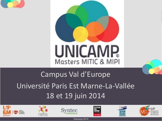 Campus Val d'Europe Université Paris Est Marne-La-Vallée 18 et 19 juin 2014