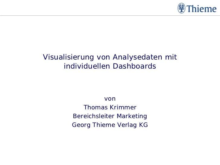Visualisierung mit individuellen Dashboards           Visualisierung von Analysedaten mit                individuellen Das...