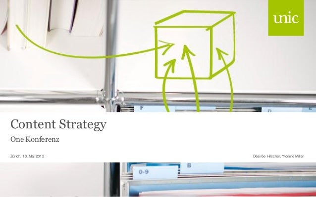 Content Strategy One Konferenz Désirée Hilscher, Yvonne MillerZürich, 10. Mai 2012