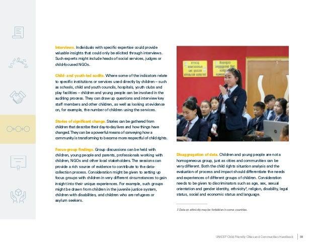 Unicef Child Friendly cities and Communities Handbook