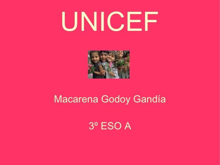 UNICEF Macarena Godoy Gandía 3º ESO A
