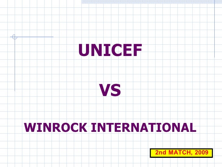 UNICEF VS WINROCK INTERNATIONAL