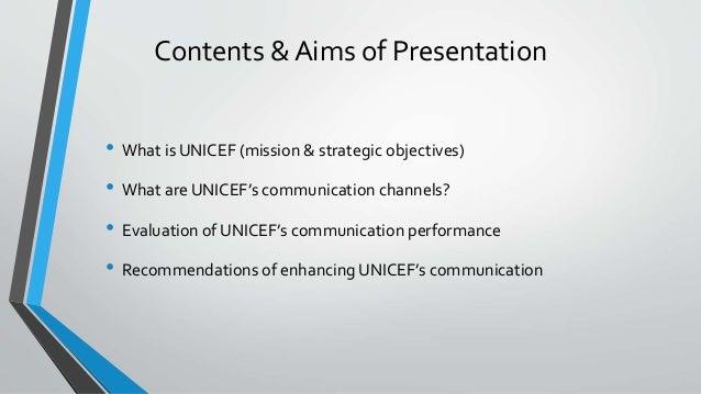 unicef corporate communication analysis