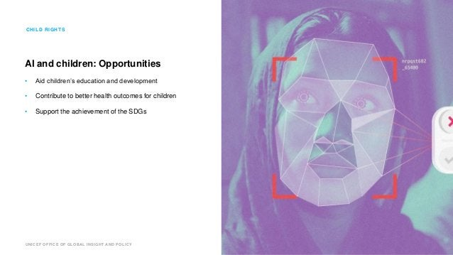 UNICEF OFFICE OF GLOBAL INSIGHT AND POLICY AI and children: Opportunities • Aid children's education and development • Con...