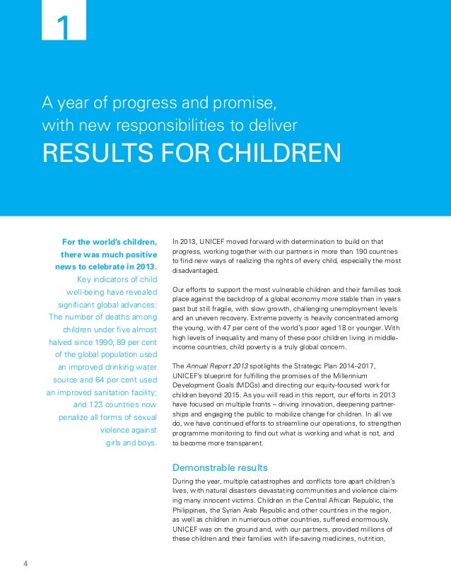 Unicef annual report 2013 anthony lake executive director 6 malvernweather Images