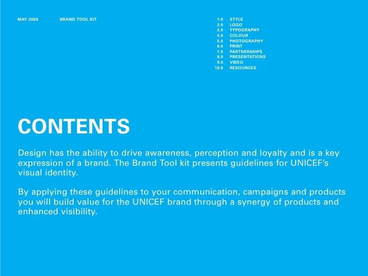 Unicef branding toolkit Slide 2