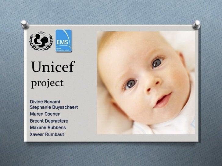 Divine Bonami Stephanie Buysschaert Maren Coenen Brecht Depraetere Maxime Rubbens Xaveer Rumbaut Unicef project