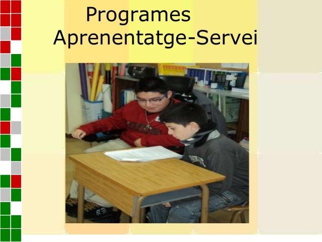ProgramesAprenentatge-ServeiProgramesAprenentatge-Servei