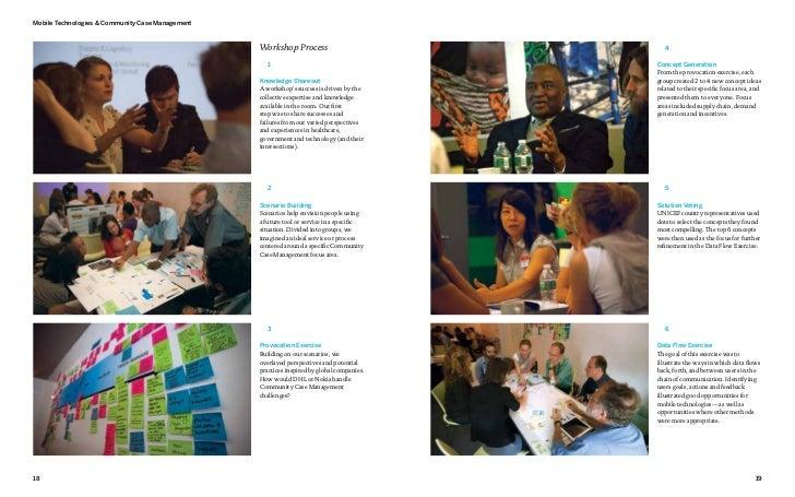 Mobile Technologies & Community Case Management                                                  Workshop Process         ...