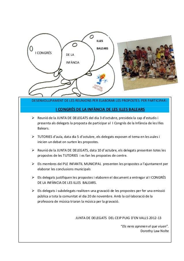 ILLES                                            BALEARS  I CONGRÉS            DE LA                       INFÀNCIADESENVO...