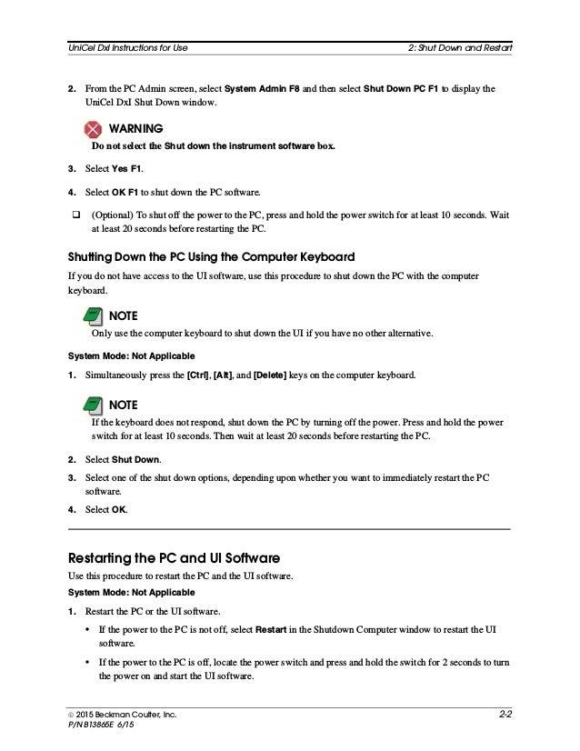 Unicel DxI - manual de operador ingles