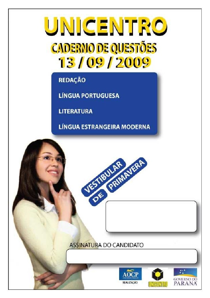 INSTRUÇÕES          •    Você está recebendo do fiscal um Caderno de Questões com 03 (três) temas de redações e 30 (trinta...