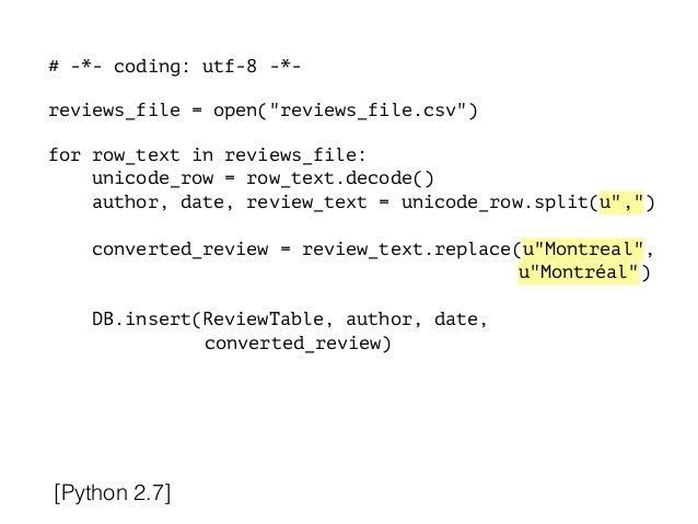 Utf-8 decode online dating