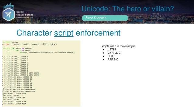Unicode the hero or villain