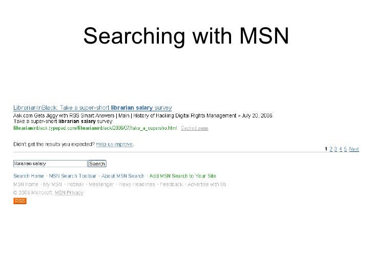 Searching with MSN